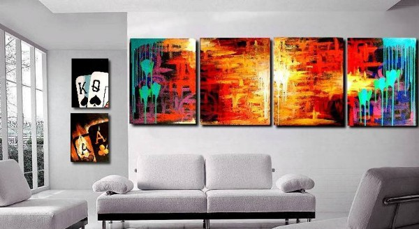 Abstract Painting Hangings - Bellevue, WA